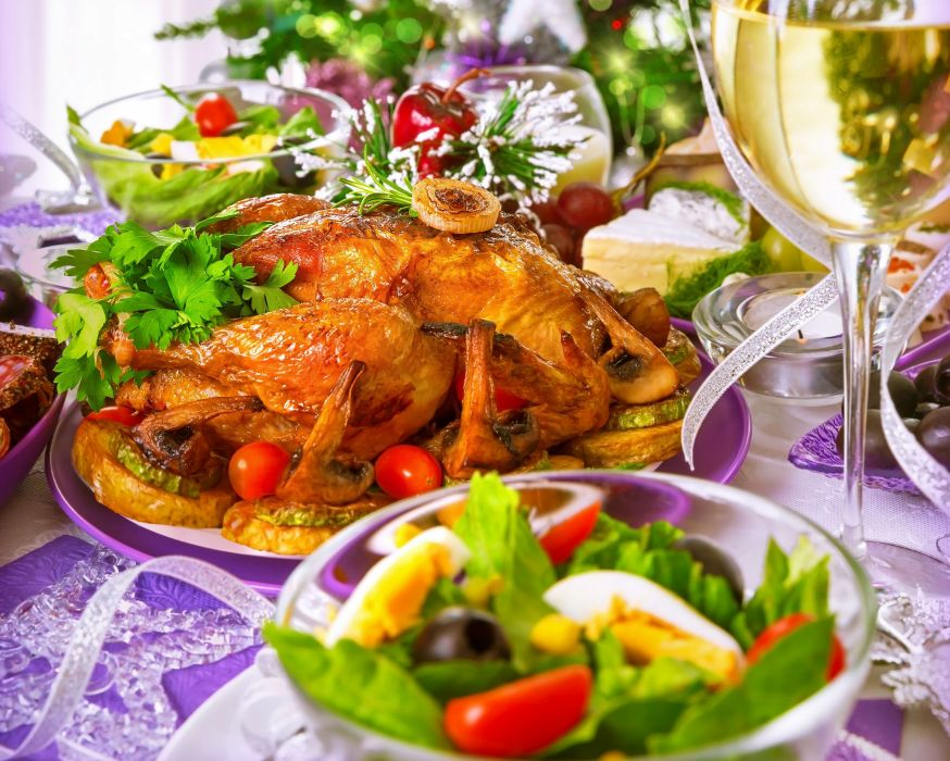 chicken salad garnish glass holiday wallpaper
