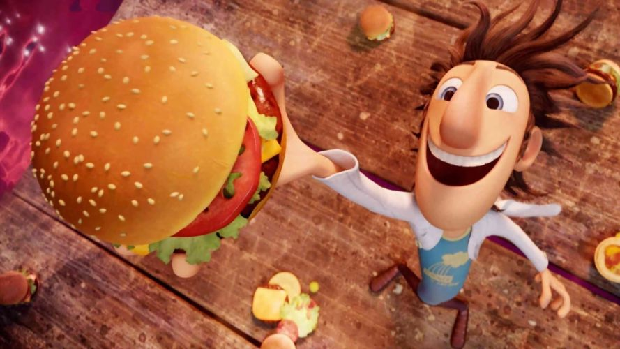 cloudy with a chance of meatballs hamburger wallpaper