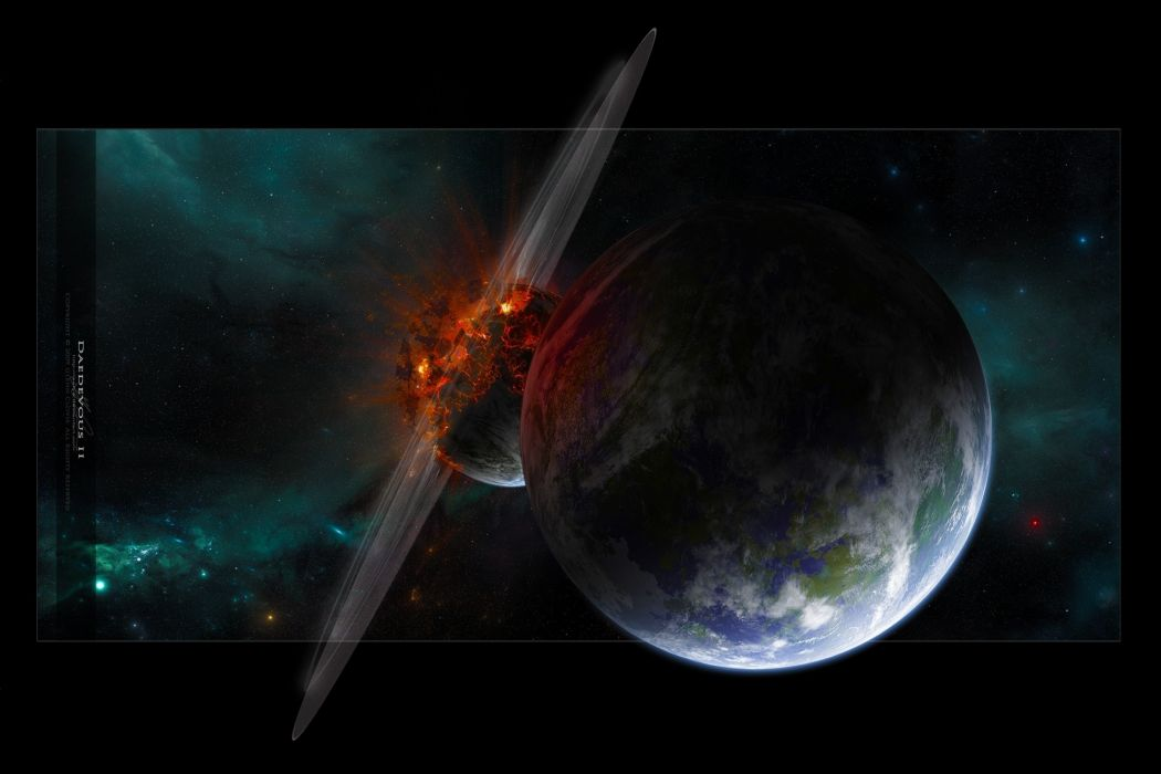 disaster planet asteroid wallpaper