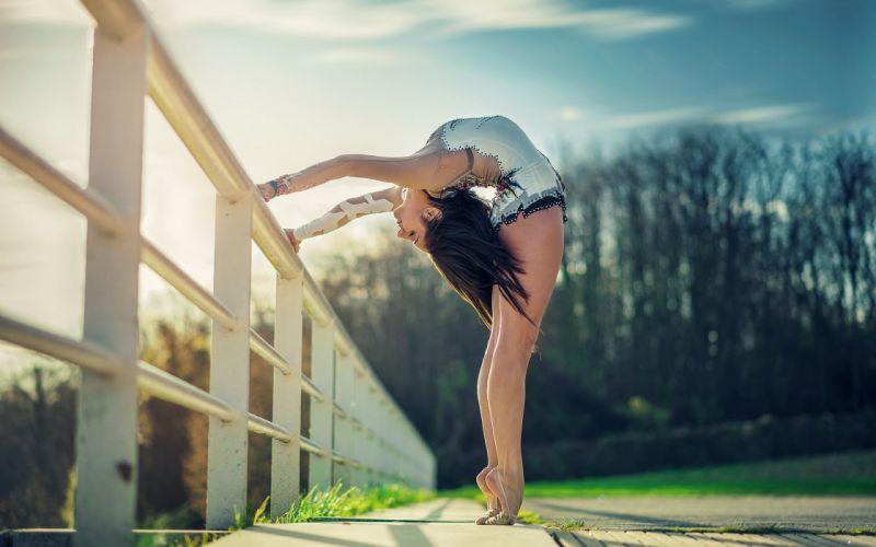 girl pose background mood dance sexy babe brunette ballerina h wallpaper