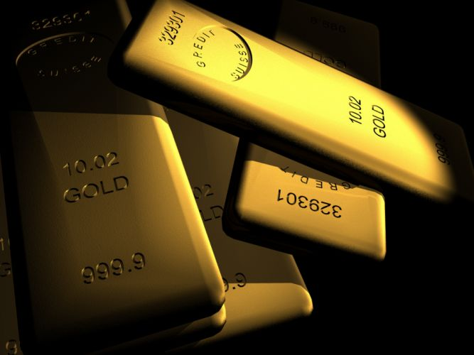 gold bullion black wallpaper