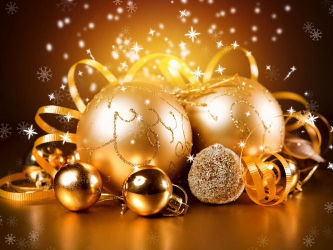 gold New Year christmas wallpaper