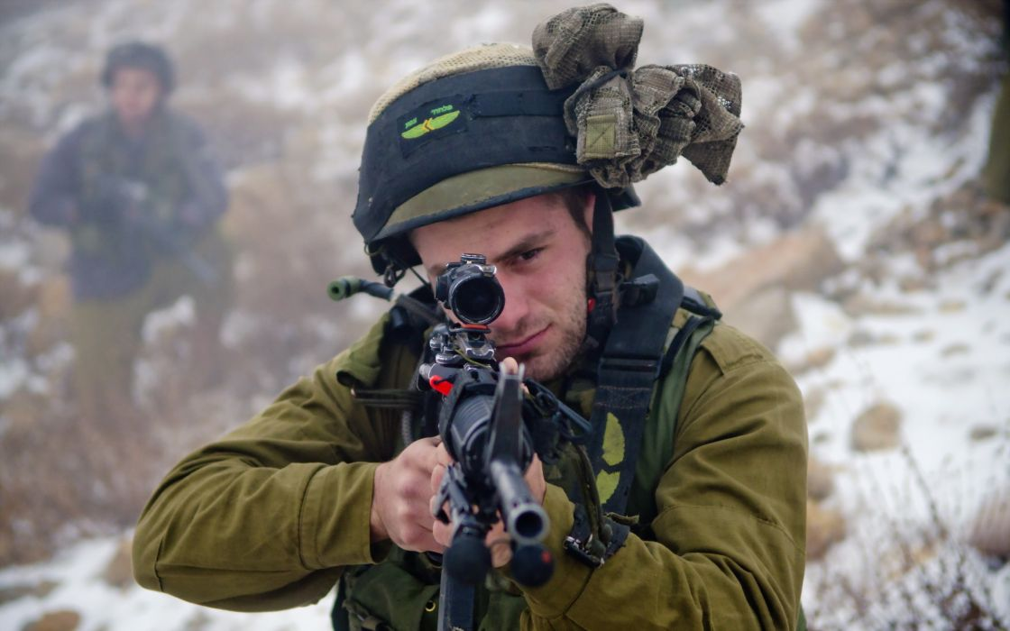 Israel Defense Forces soldiers army military weapon gun wallpaper