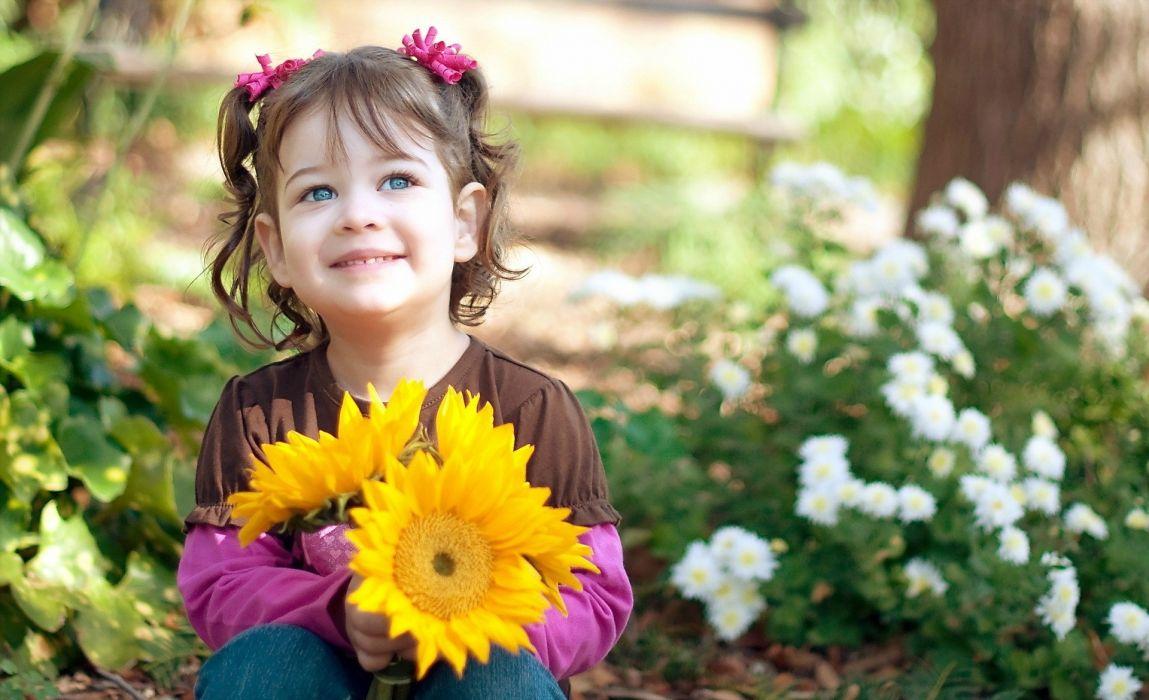 kids mood smile girl wallpaper