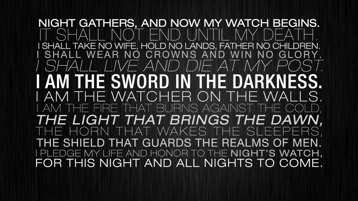 light honor walls night guards father game of thrones death live sword glory wallpaper