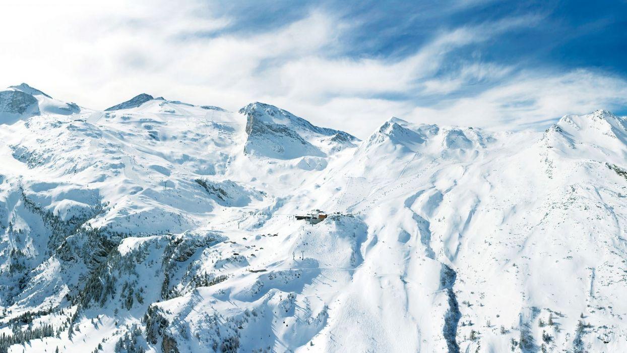 mountains peaks snow wallpaper