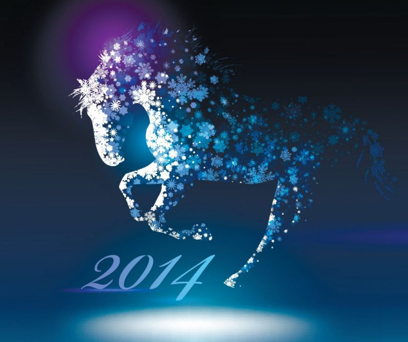 new year 2014 year of the horse wallpaper