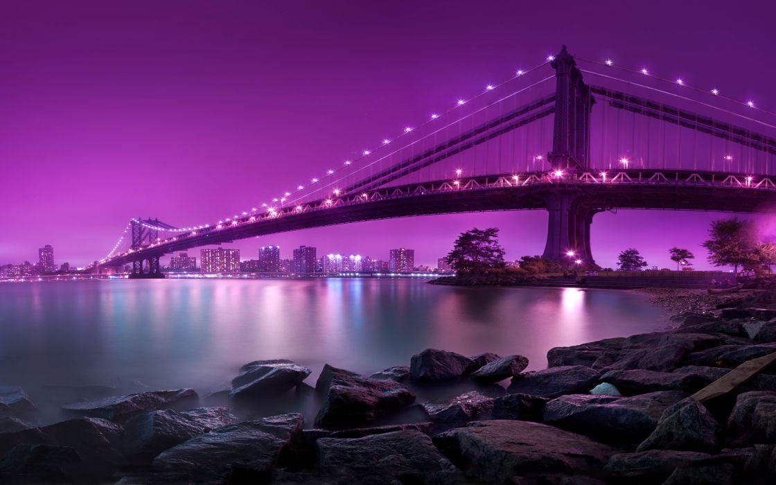 new york city manhattan bridge wallpaper