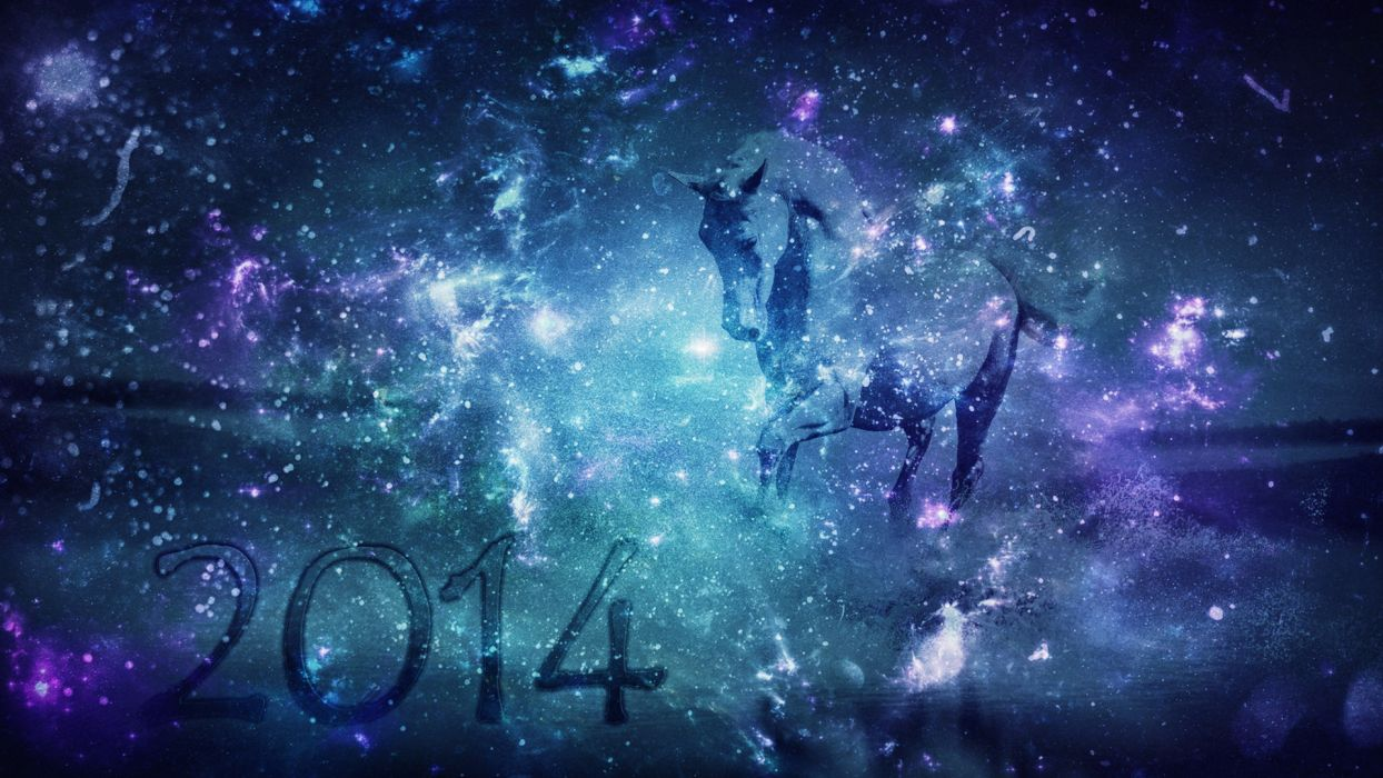 new year holiday background horse 2014 wallpaper