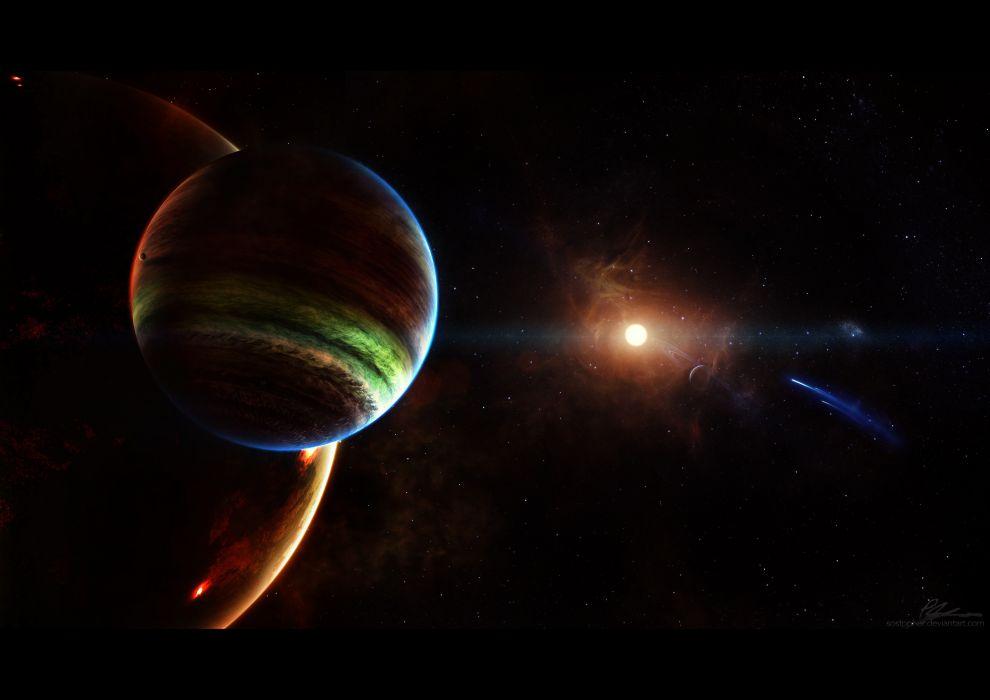 planet stars space wallpaper