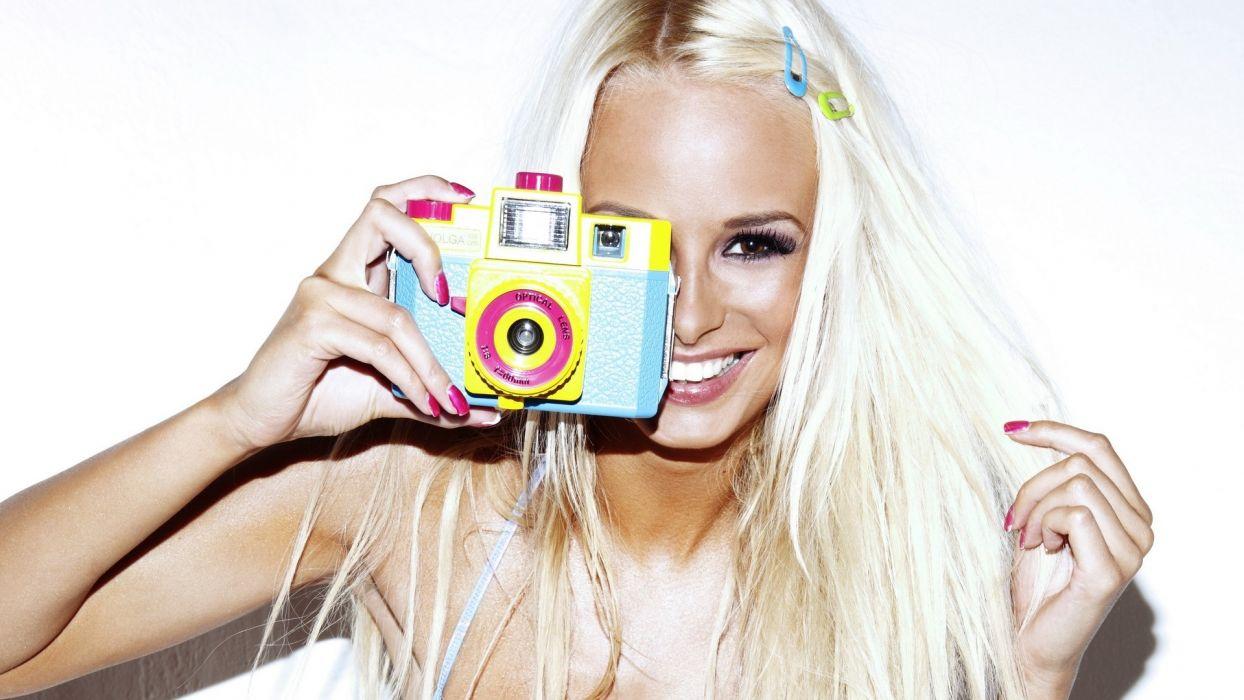 rhian sugden smile blonde wallpaper