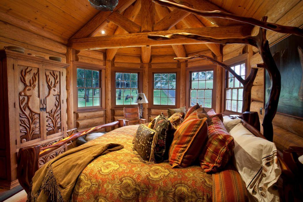 room bed wardrobe air wallpaper