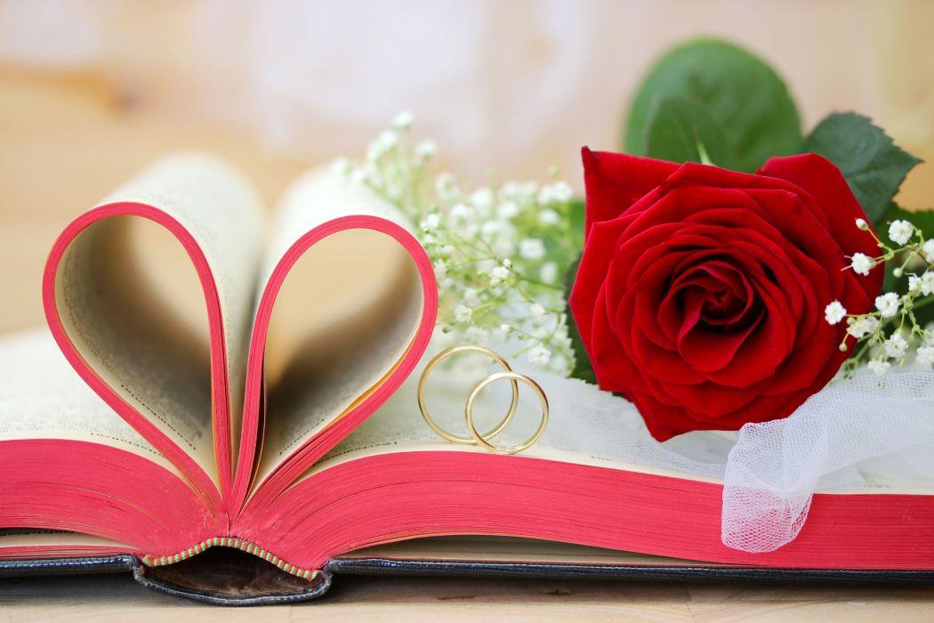 rose book ring wallpaper