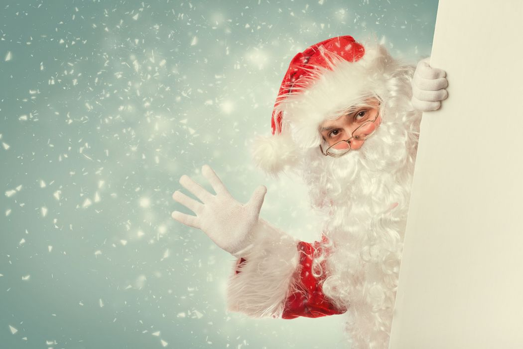 Santa Claus beard glasses wallpaper