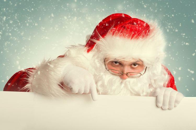 Santa Claus glasses wallpaper