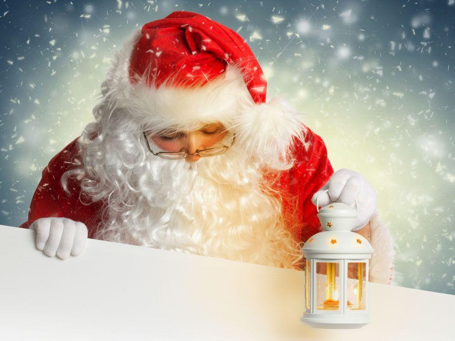 Santa Claus lantern wallpaper