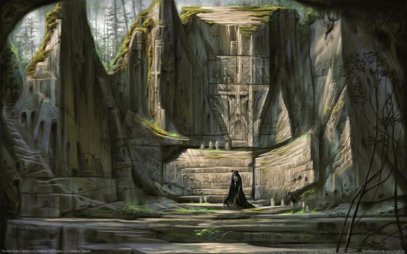 skyrim scrolls the elder wallpaper