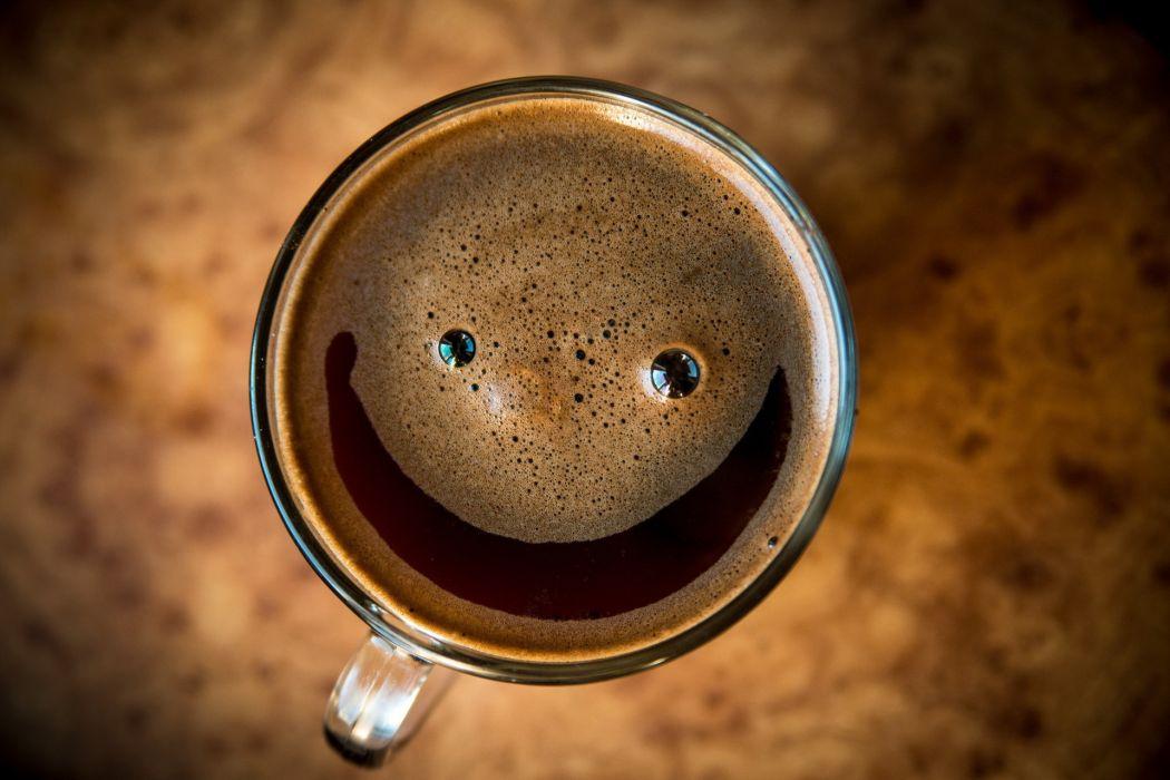 smile drink macro cup foam wallpaper