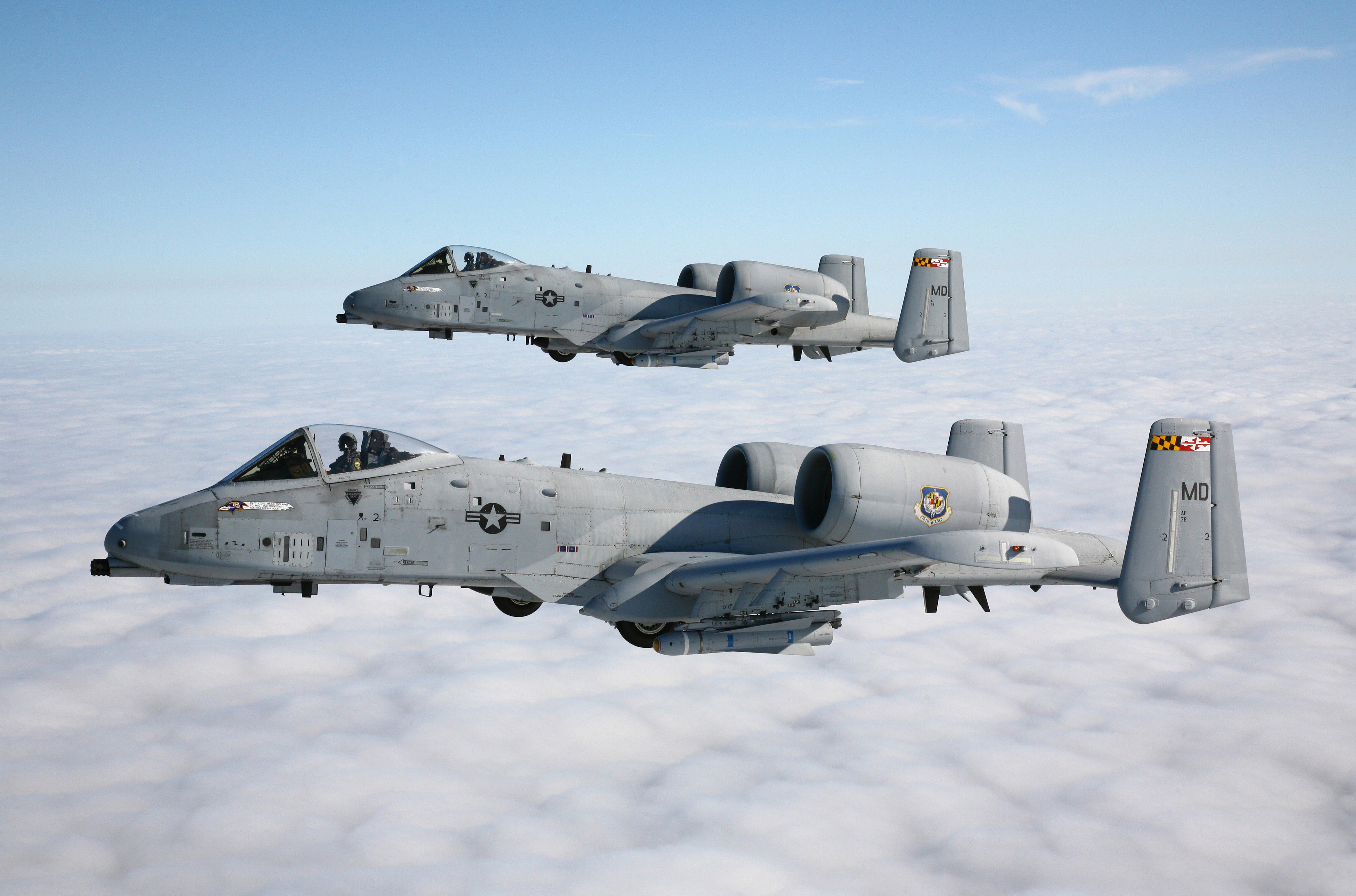 Sky steam thunderbolt ii attack aircraft a-10 military wallpaper ...
