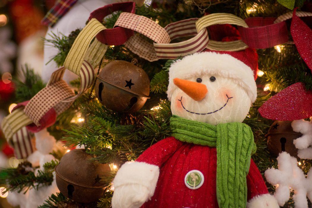snowman garland ornaments toys wallpaper