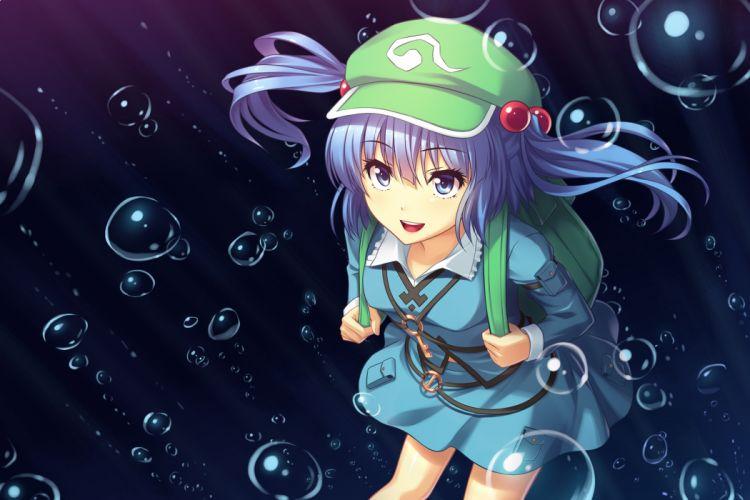 touhou bubbles kawashiro nitori touhou wallpaper