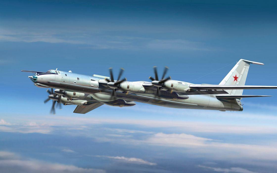 Tu-142 m3 bear military     g wallpaper