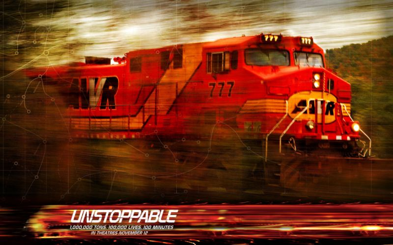 unstoppable disaster movie train wallpaper