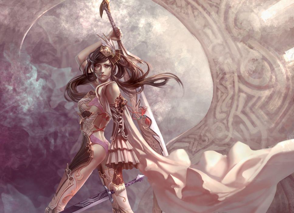 Xiao Botong girl warrior sword wallpaper