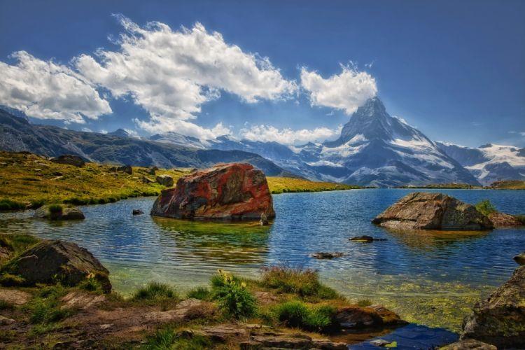 Coast Switzerland Mountains Zermatt Nature wallpaper