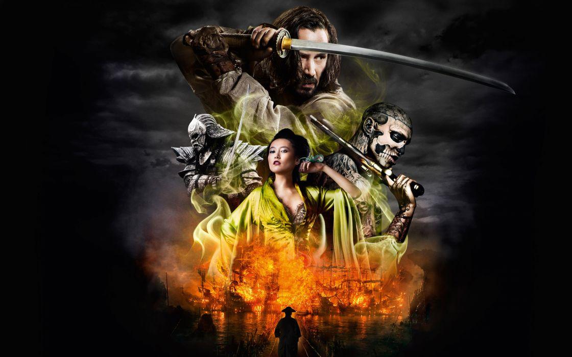Men Keanu Reeves 47 Ronin 2013 Samurai Sabre Movies Celebrities warrior fantasy katana wallpaper