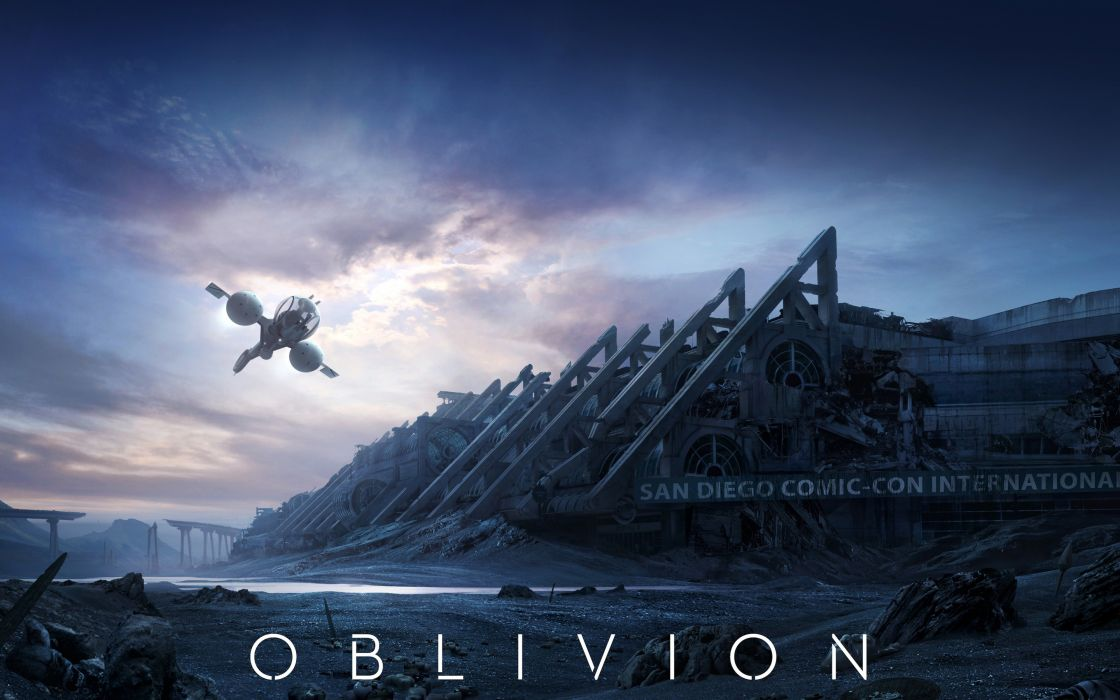 Oblivion (2013 film) Clouds Movies sci-fi spaceship apocalyptic wallpaper