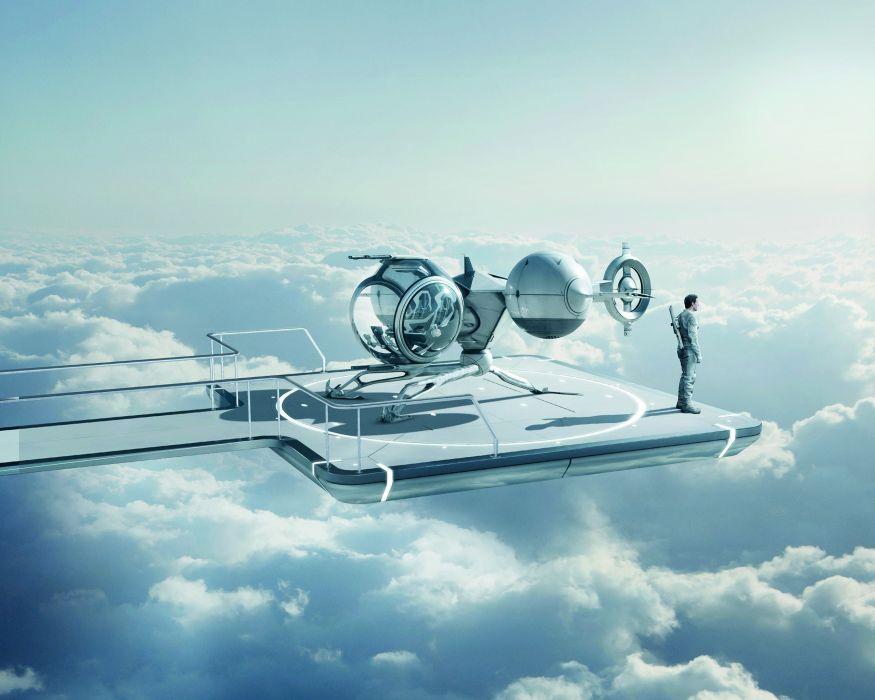 Oblivion (2013 film) Clouds Movies sci-fi spaceship wallpaper