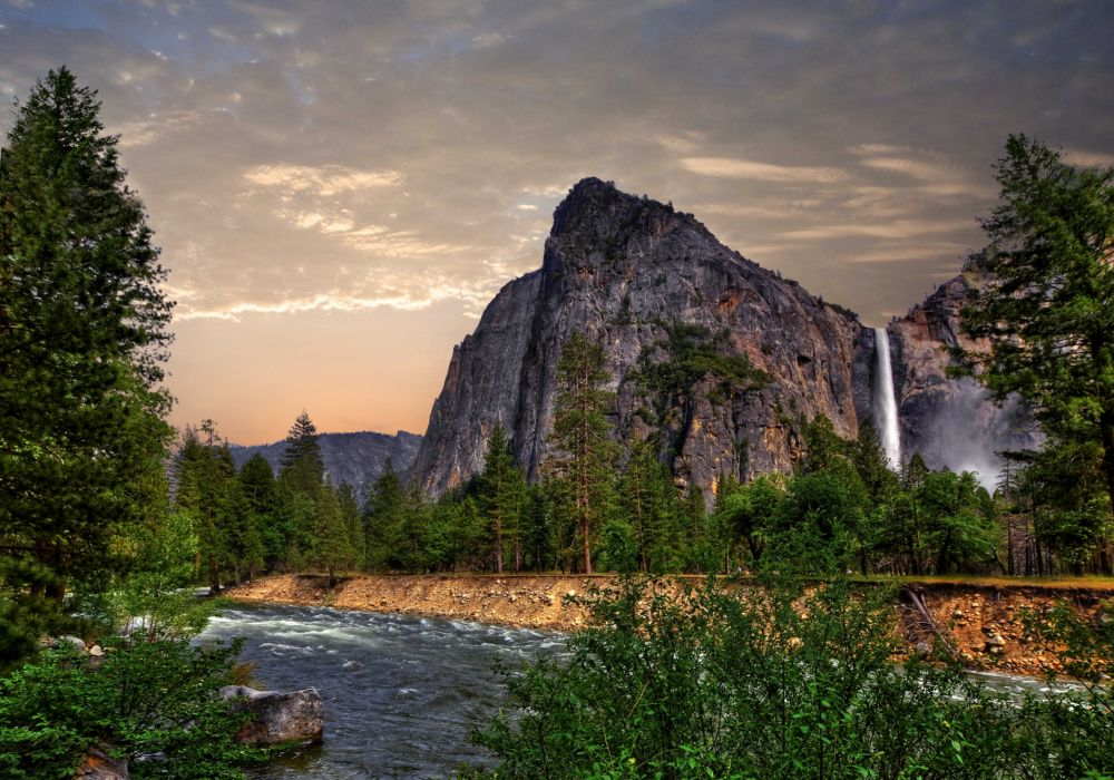 Parks Rivers Mountains Waterfalls Forests Scenery Nature wallpaper