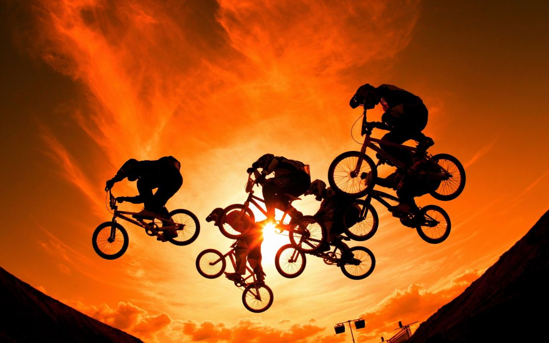 Sport Bicycle Jump wallpaper