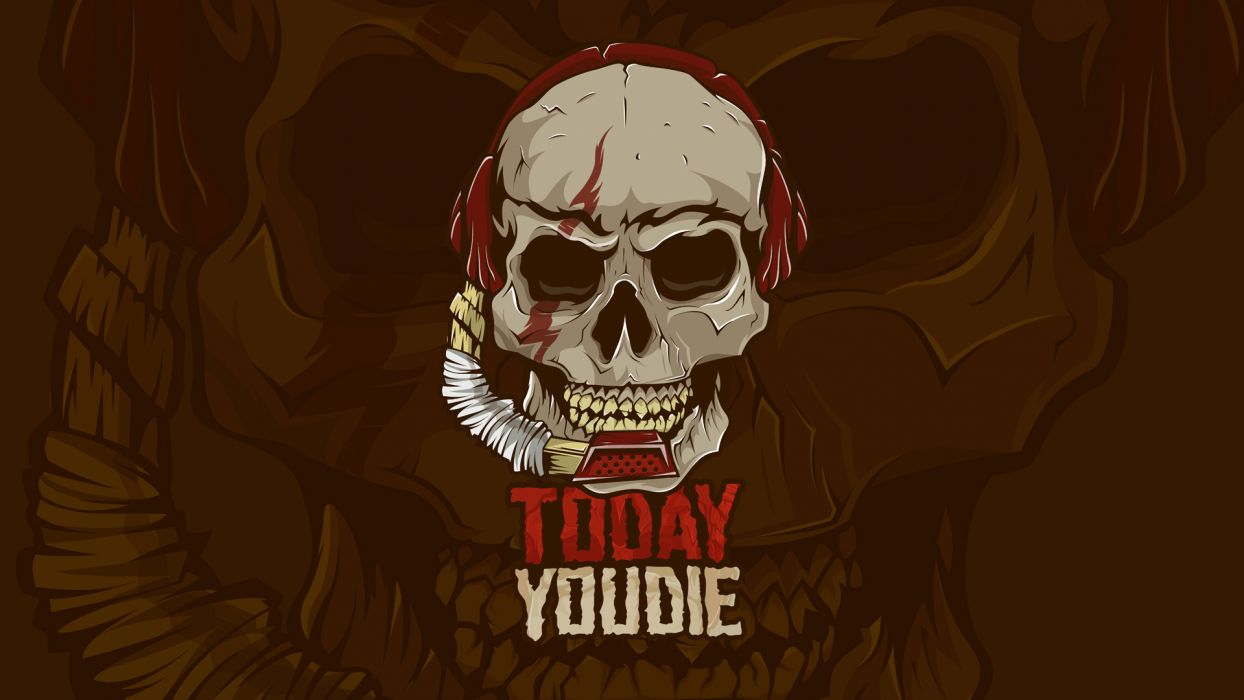 Today YouDie movie skull dark wallpaper