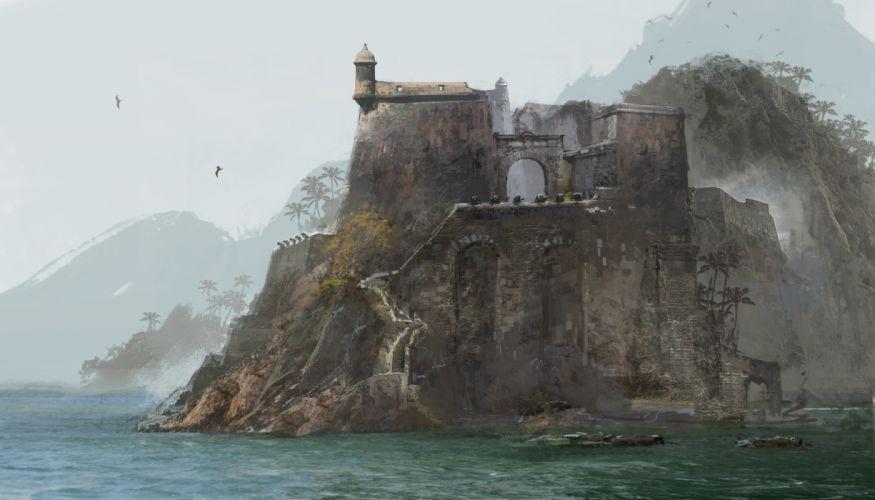 Assassins Creed fantasy castle g wallpaper