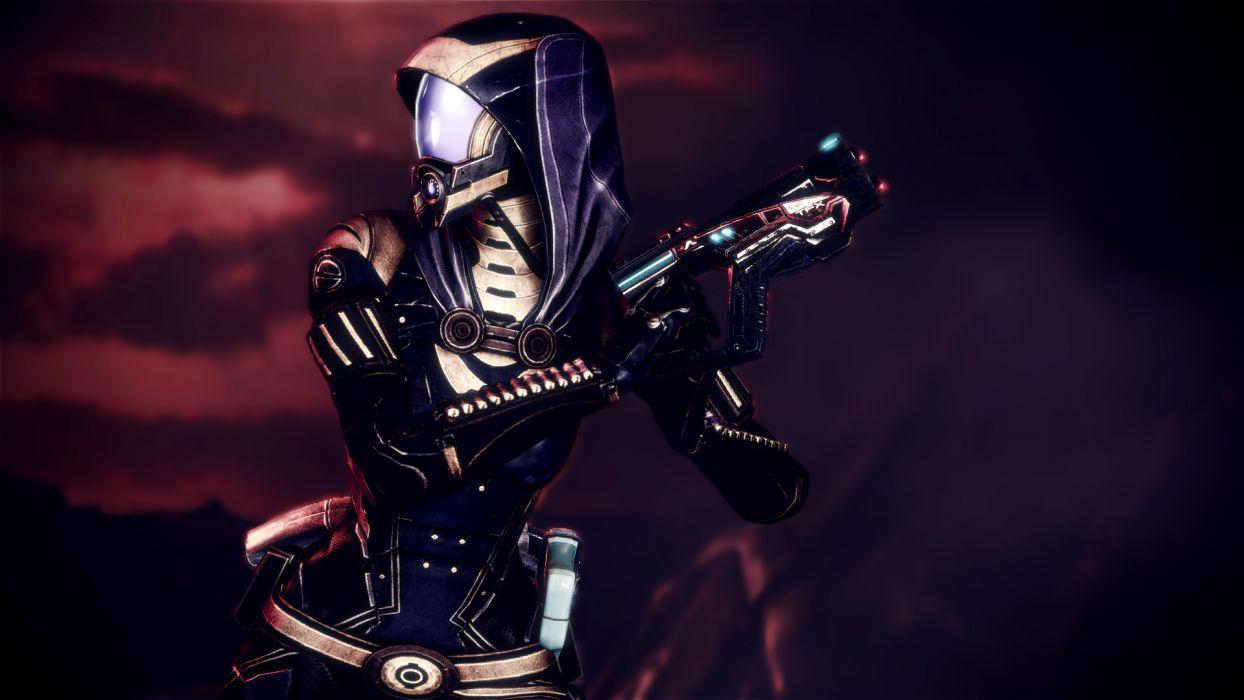 Mass Effect Tali Zorah Warrior sci-fi cyborg wallpaper