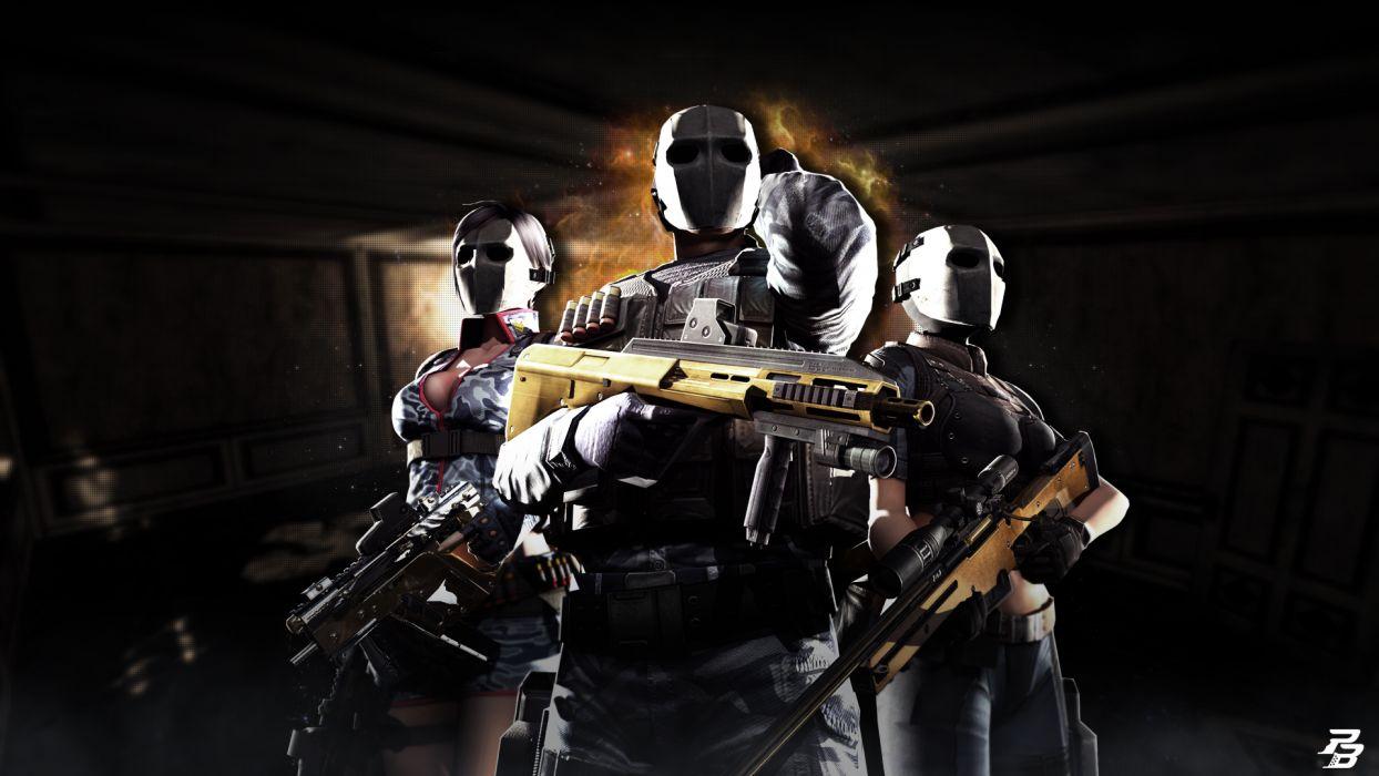 Point Blank Warrior Masks Games weapon gun wallpaper