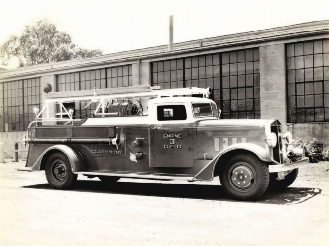 1939 Maxim Pumper firetruck emergency retro semi tractor f wallpaper