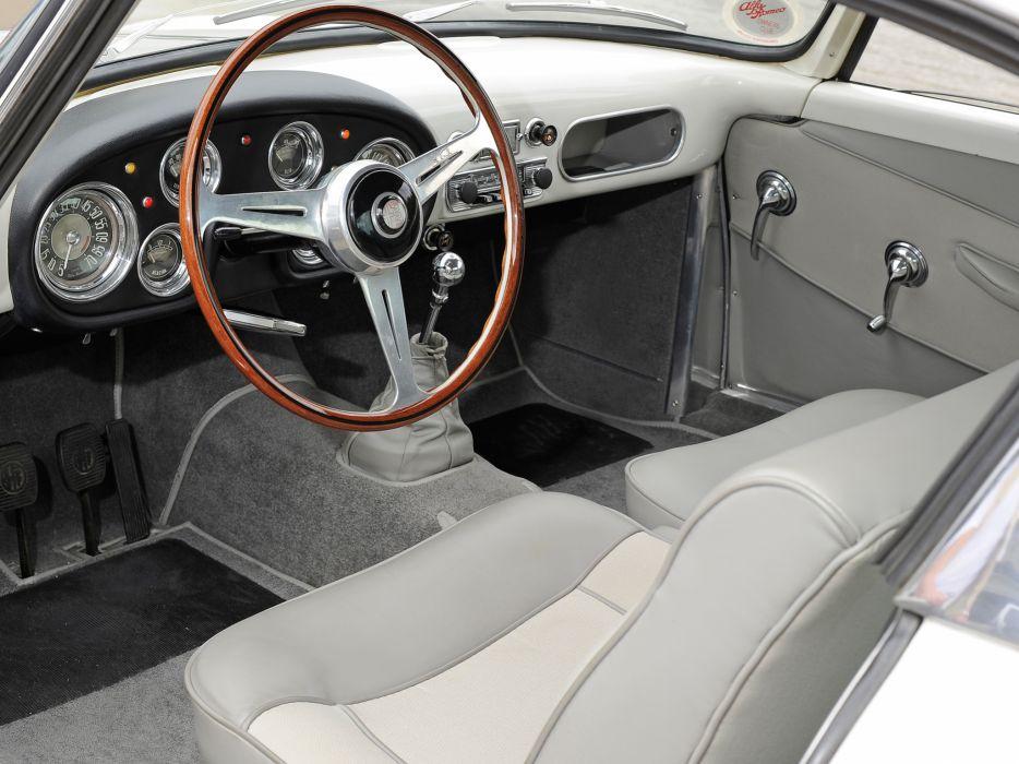 1956-58 Alfa Romeo 1900 Super Sprint (1484) retro interior  b wallpaper