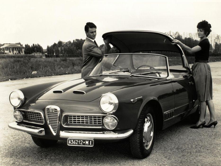 1958-61 Alfa Romeo 2000 Spider (102) retro classic      h wallpaper