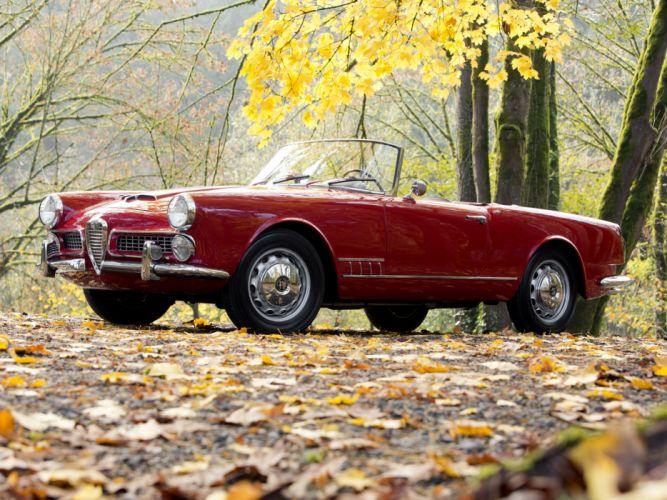 1958-61 Alfa Romeo 2000 Spider (102) retro classic d wallpaper