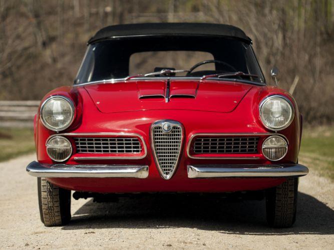 1958-61 Alfa Romeo 2000 Spider (102) retro classic hd wallpaper