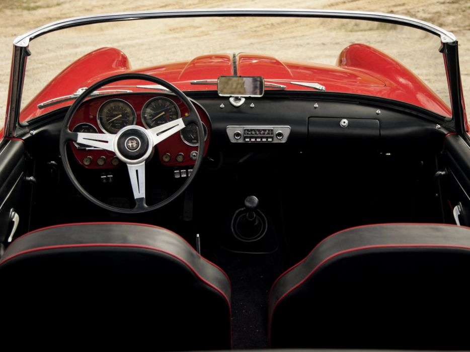 1958-61 Alfa Romeo 2000 Spider (102) retro classic interior h wallpaper