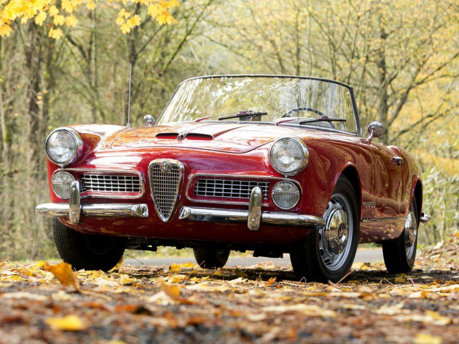 1958-61 Alfa Romeo 2000 Spider (102) retro classic k wallpaper