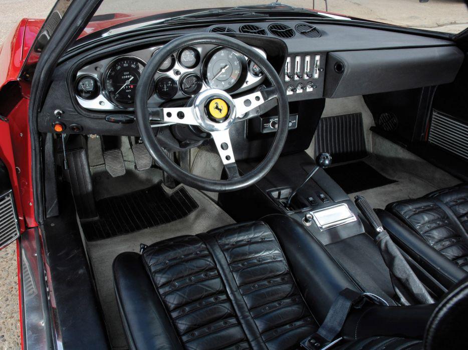 1971-73 Ferrari 365 GTB4 Daytona supercar interior     h wallpaper