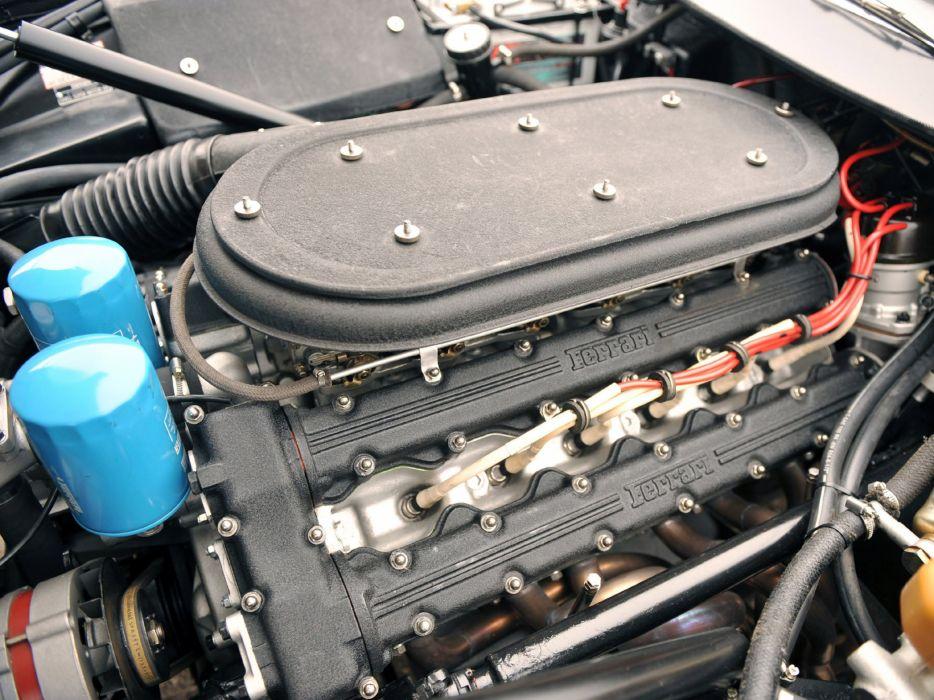 1971-73 Ferrari 365 GTB4 Daytona supercar engine       g wallpaper