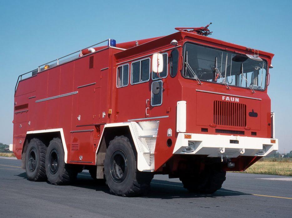 1972 FAUN LF910-42V 6x6 FireTruck emergency semi tractor      g wallpaper