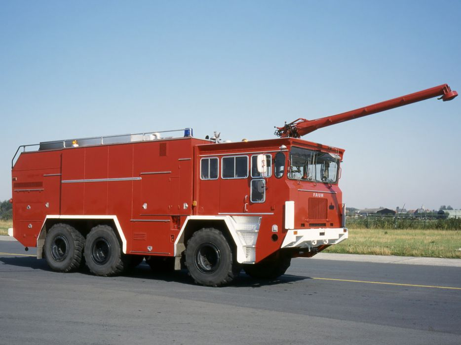 1972 FAUN LF910-42V 6x6 FireTruck emergency semi tractor   e wallpaper