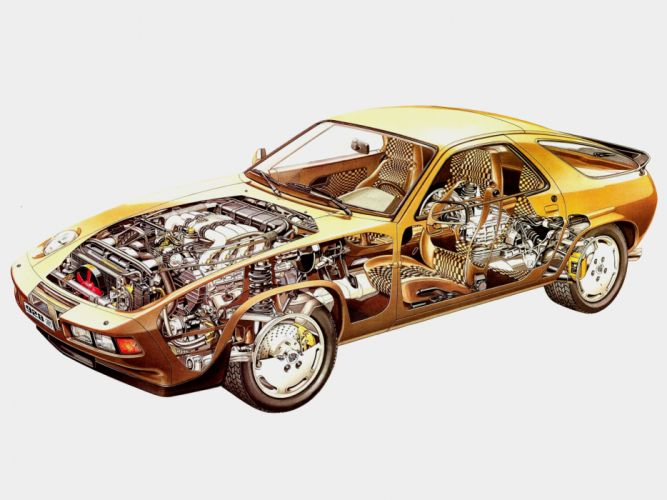 1986 Porsche 928 S supercar engine interior i wallpaper